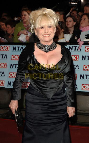 BARBARA WINDSOR.The National Television Awards 2006, Royal Albert Hall, London, UK. .October 31st, 2006.half length black dress choker necklace cleavage.CAP/BEL.©Belcher/Capital Pictures