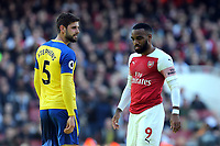 Jack Stephens of Southampton and /Alexandre Lacazette of Arsenal during Arsenal vs Southampton, Premier League Football at the Emirates Stadium on 24th February 2019