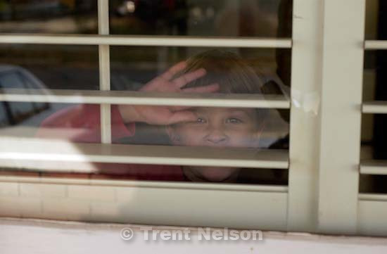 Nathaniel Nelson waving goodbye to me as i leave for work 11/19/2003<br />