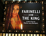 Theatre Marquee  the Broadway Opening Night performance Curtain Call Bows for 'Farinelli and the King' at The Belasco Theatre on December 17, 2017 in New York City.