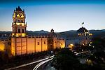Metropolitan Cathedral_Chuquisaca Governship Palace_Dusk_Sucre_Bolivia