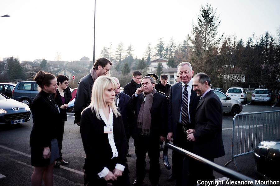 Xavier Bertrand et Jean Denais (maire UMP de Thonon-Les-Bains) à l'inauguration des hôpitaux du Léman