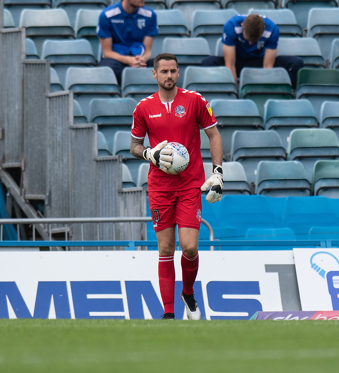 Bolton Wanderers' Remi Matthews dejected after conceding his sides first goal<br /> <br /> Photographer David Horton/CameraSport<br /> <br /> The EFL Sky Bet League One - Gillingham v Bolton Wanderers - Saturday 31st August 2019 - Priestfield Stadium - Gillingham<br /> <br /> World Copyright © 2019 CameraSport. All rights reserved. 43 Linden Ave. Countesthorpe. Leicester. England. LE8 5PG - Tel: +44 (0) 116 277 4147 - admin@camerasport.com - www.camerasport.com