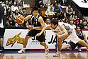 (L to R) .Takeki Shonaka (Alvark), .Shogo Asayama (Sea Horses), .APRIL 22, 2012 - Basketball : .JBL FINALS 2011-2012 GAME 4 .between Aisin Sea Horses 64-83 Toyota Alvark .at 2nd Yoyogi Gymnasium, Tokyo, Japan. . With this victory Toyota Alvark won their first championship in 5 years.(Photo by YUTAKA/AFLO SPORT) [1040]