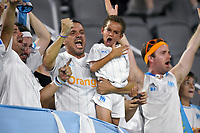 Marseille fans cheer passionately in the stands during the EA Sports Ligue 1 Games championship match between Olympique de Marseille and AS Saint-Etienne July 21, 2019 at Audi Field in Washington, D.C..