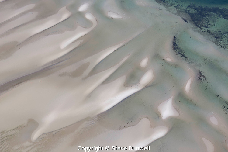 sand bar pattern, low tide, Monomoy, Aerial view, Chatham, Cape Cod, MA