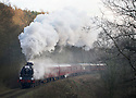 07/12/14<br /> <br /> Santa's Express steams along the Churnet Valley Railway near Frogall in Staffordshire.<br /> ***ANY UK EDITORIAL PRINT USE WILL ATTRACT A MINIMUM FEE OF £130. THIS IS STRICTLY A MINIMUM. USUAL SPACE-RATES WILL APPLY TO IMAGES THAT WOULD NORMALLY ATTRACT A HIGHER FEE . PRICE FOR WEB USE WILL BE NEGOTIATED SEPARATELY***<br /> <br /> <br /> All Rights Reserved - F Stop Press. www.fstoppress.com. Tel: +44 (0)1335 300098