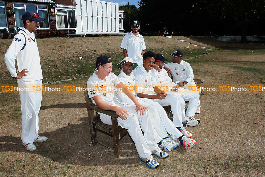 Wanstead players relax before the game during Wanstead and Snaresbrook CC vs Colchester and East Essex CC, Shepherd Neame Essex League Cricket at Overton Drive on 1st September 2016