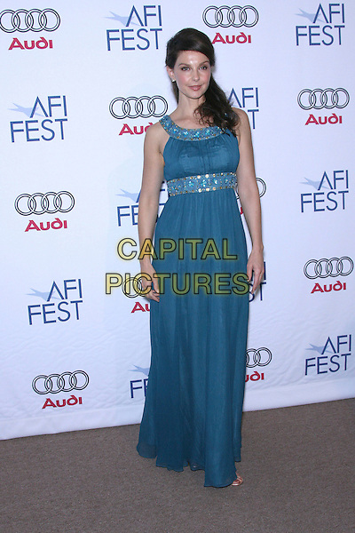 "ASHLEY JUDD.AFI Fest 2006 by Audi Presents ""Come Early Morning"" Los Angeles Screening - Arrivals held at the ArcLight, Hollywood, California, USA..November 9th, 2006.Ref: ADM/ZL.full length blue dress jewel encrusted trim.www.capitalpictures.com.sales@capitalpictures.com.©Zach Lipp/AdMedia/Capital Pictures."