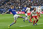 16.03.2019, VELTINS-Arena, Gelsenkirchen, GER, DFL, 1. BL, FC Schalke 04 vs RB Leipzig, DFL regulations prohibit any use of photographs as image sequences and/or quasi-video<br /> <br /> im Bild Strafraumszene . Torchance von Guido Burgstaller (#19, FC Schalke 04) (li.) Willi Orban (#4, RB Leipzig) (re.)<br /> <br /> Foto © nph/Mauelshagen