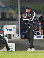 Trainer Alois Schwartz(Karlsruher SC) - 04.10.2019: SV Darmstadt 98 vs. Karlsruher SC, Stadion am Boellenfalltor, 2. Bundesliga<br /> <br /> DISCLAIMER: <br /> DFL regulations prohibit any use of photographs as image sequences and/or quasi-video.