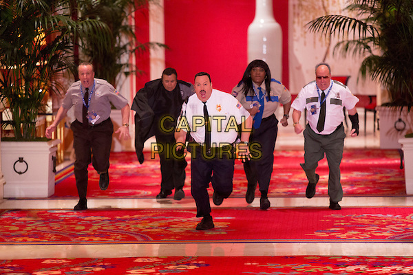 Kevin James with Vic DiBitetto, Shelly Desai, Loni Love, Gary Valentine<br /> in Paul Blart: Mall Cop 2 (2015) <br /> *Filmstill - Editorial Use Only*<br /> CAP/FB<br /> Image supplied by Capital Pictures