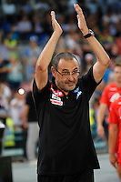 Maurizio Sarri during the friendly soccer match,between SSC Napoli and Onc Nice      at  the San  Paolo   stadium in Naples  Italy , August 02, 2016