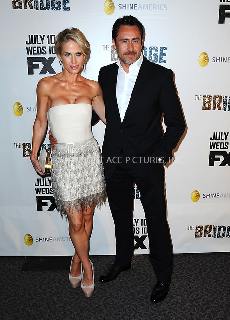 WWW.ACEPIXS.COM<br /> <br /> July 8 2013, LA<br /> <br /> Stefanie Sherk and Demian Bichir arriving at the series premiere of FX's 'The Bridge' at DGA Theater on July 8, 2013 in Los Angeles, California. <br /> <br /> By Line: Peter West/ACE Pictures<br /> <br /> <br /> ACE Pictures, Inc.<br /> tel: 646 769 0430<br /> Email: info@acepixs.com<br /> www.acepixs.com