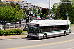 BC Transit, RDN transit city bus in downtown Nanaimo, Vancouver Island, British Columbia, Canada. 2017