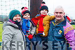 Garvey family from Ballydonohue, enjoying the NK football final on Sunday last, l-r Mairead, Fionn, Oisin and Colm Garvey.