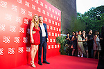 American actress Lindsay Lohan and the president of UNOde50 Jose Azulay attend to the 20th anniversary of UNOde50 at Palacio de Saldaña in Madrid. June 09. 2016. (ALTERPHOTOS/Borja B.Hojas)