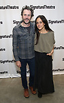 Josh Hamilton and Lily Thorne attends the Off-Broadway Opening Night of the Signature Theatre's 'Thom Pain' at the Signature Theatre on November 11, 2018 in New York City.