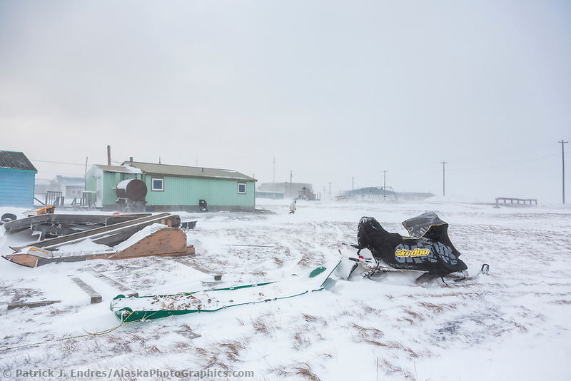 Native Arctic Inupiat village of Kaktovik, Alaska.
