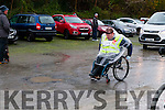 KC Marathon : Pictured at the start of the Kerry Crusaders marathon & 10 K run on Saturday morning last was the lone wheelchair competitor  Ger Daly.