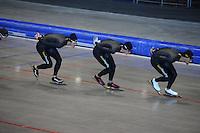 SCHAATSEN: HEERENVEEN: 17-06-2014, IJsstadion Thialf, Zomerijs training, Gerben Jorritsma, Kjeld Nuis, Hein Otterspeer, ©foto Martin de Jong