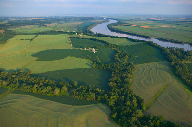 Farms along Missouri River