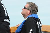 SKUTSJESILEN: LEMMER: Lemster Baai, 17-08-2012, IFKS skûtsjesilen, A-Klasse, skûtsje De Jonge Jan, dagwinnaar schipper Jelle Talsma, ©foto Martin de Jong