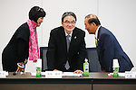 (L-R) Yoshiko Ikoma, Ryohei Miyata, Toshiro Muto, <br /> JANUARY 17, 2017 : <br /> 1st Mascot Selection Review Conference for the Tokyo 2020 Olympic and Paralympic Games in Tokyo. <br /> (Photo by Sho Tamura/AFLO)