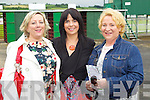 Bernie O'Connell, Meave Leahy and Geraldine Quirke, Tralee pictured at Listowel races on Sunday.