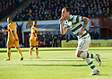 CELTIC'S ANTHONY STOKES CELEBRATES AFTER HE SCORES CELTIC'S FIRST.