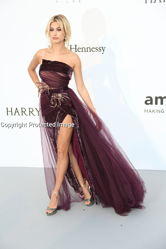 HAILEY BALDWIN amfAR Gala Cannes 2017 - Arrivals<br /> CAP D'ANTIBES, FRANCE - MAY 25 arrives at the amfAR Gala Cannes 2017 at Hotel du Cap-Eden-Roc on May 25, 2017 in Cap d'Antibes, France