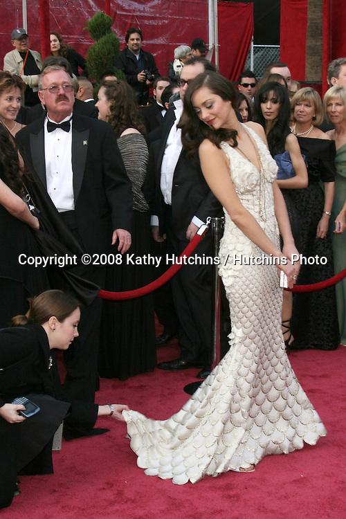 Marion Cotillard.80th Academy Awards ( Oscars).Kodak Theater.Los Angeles, CA.February 24, 2008.©2008 Kathy Hutchins / Hutchins Photo.