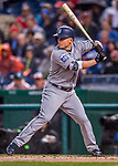 23 May 2017: Seattle Mariners third baseman Kyle Seager at bat in the second inning against the Washington Nationals on a rainy day at Nationals Park in Washington, DC. The Nationals defeated the Mariners 10-1 to take the first game of their inter-league series. Mandatory Credit: Ed Wolfstein Photo *** RAW (NEF) Image File Available ***
