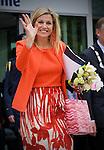 Nederland,Nieuwegein,22-5-2008 - Prinses Maxima verlaat het pand van de Koninklijke Metaalunie  waar zij aanwezig was bij de Productivity Award  uitreiking .FOTO: Gerard Til