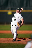 Dartmouth Big Green relief pitcher Jackson Bubala (32) delivers a pitch during a game against the St. Bonaventure Bonnies on February 25, 2017 at North Charlotte Regional Park in Port Charlotte, Florida.  St. Bonaventure defeated Dartmouth 8-7.  (Mike Janes/Four Seam Images)