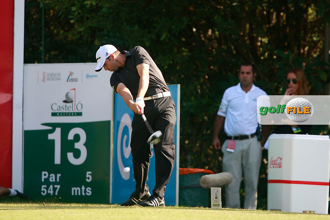 Sergio Garcia (ESP) tees off the 13th tee during Friday's Round 2 of the Castello Masters at the Club de Campo del Mediterraneo, Castellon, Spain, 21st October 2011 (Photo Eoin Clarke/www.golffile.ie)
