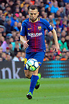 League Santander 2017/2018. Game: 28.<br /> FC Barcelona vs At. Madrid: 1-0.<br /> Jordi Alba.