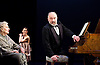 Waste <br /> by Harley Granville Barker<br /> at the Lyttelton Theatre, NT, Southbank, London, Great Britain <br /> 9th November 2015 <br /> Olivia Williams as Amy O'Connell <br /> Doreen Mantle as Countess Mortimer <br /> Louis Hilyer as Russell Blackborough<br /> <br /> <br /> Photograph by Elliott Franks <br /> Image licensed to Elliott Franks Photography Services