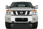 Straight front view of a 2008 Nissan Titan