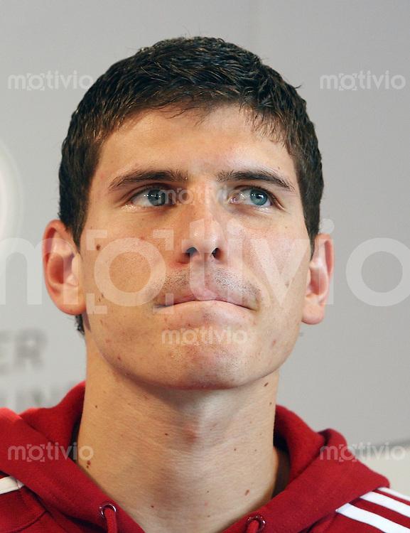 Fussball International  Deutsche Nationalmannschaft       Mario GOMEZ (GER) anlaesslich einer DFB Pressekonferenz am 06.02.2007