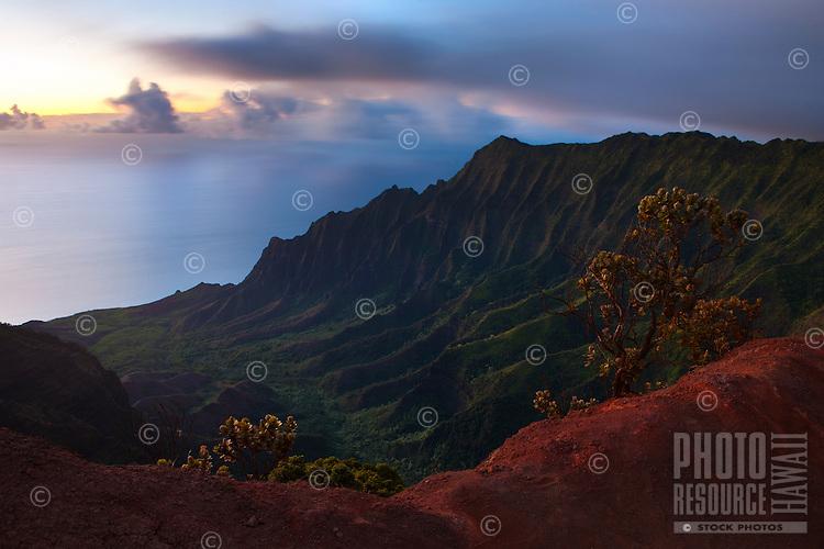 Twilight at Kalalau Valley, Kauai