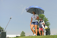 Mirim Lee (KOR) departs the 16th tee during Thursday's first round of the 72nd U.S. Women's Open Championship, at Trump National Golf Club, Bedminster, New Jersey. 7/13/2017.<br /> Picture: Golffile | Ken Murray<br /> <br /> <br /> All photo usage must carry mandatory copyright credit (&copy; Golffile | Ken Murray)