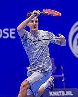 Rotterdam, Netherlands, December 15, 2017, Topsportcentrum, Ned. Loterij NK Tennis,  Justin Eleveld (NED)<br /> Photo: Tennisimages/Henk Koster