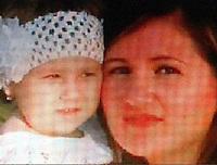 Licola ( giugliano di Napoli )<br /> Un uomop  ha ucciso la moglie e la figlia di 4 anni a colpi d'ascia <br /> nella foto le due vittime  la piccola  Katia con la mamma Marina
