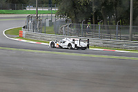 Le Mans Porsche 919 Prototype 1-Hybrid (LMP1-H) testing at Monza Autodrome rounds the Curva Parabolica during the 72nd Italian Open held in the Royal Park, Monza, Italy. 17-20th September 2015.<br /> Picture Eoin Clarke | Golffile