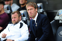 Graham Potter Manager of Swansea City during the Sky Bet Championship match between Swansea City and Rotherham United at the Liberty Stadium in Swansea, Wales, UK.  Friday 19 April 2019