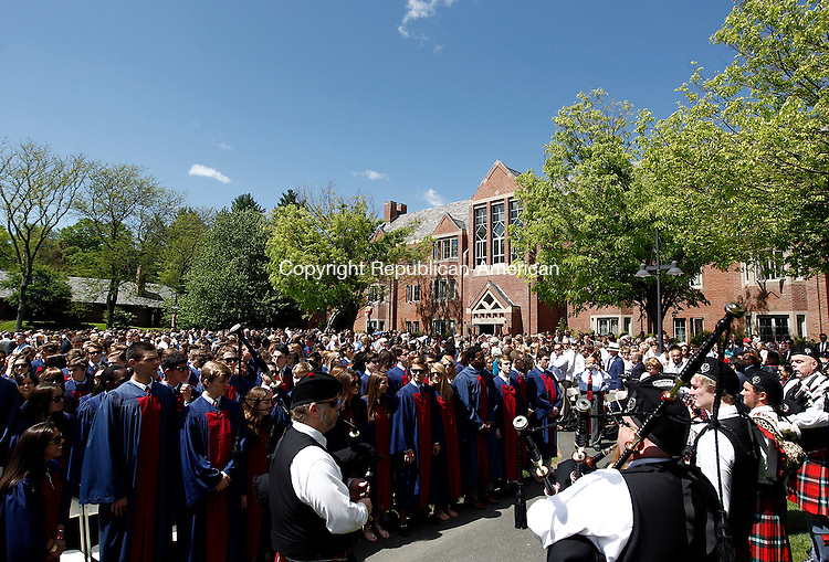 Watertown, CT- 25 May 2014-052514CM11-  Graduates take to their seats during commencement exercises at The Taft School in Watertown on Sunday.   Christopher Massa Republican-American