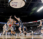 SIOUX FALLS, SD - MARCH 9: Megan Waytashek #24 of SDSU looks for a shot against two Oral Roberts defenders in the first half of their semi-final round Summit League Championship Tournament game Monday afternoon at the Denny Sanford Premier Center in Sioux Falls, SD. (Photo by Dick Carlson/Inertia)