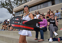 May 24, 2015; Los Angeles, CA, USA; Los Angeles Aviators fans pose against the San Francisco Flamethrowers in an American Ultimate Disc League (AUDL) match at Occidental College. The Aviators defeated the Flamethrowers 23-22. <br /> Photo by Kirby Lee