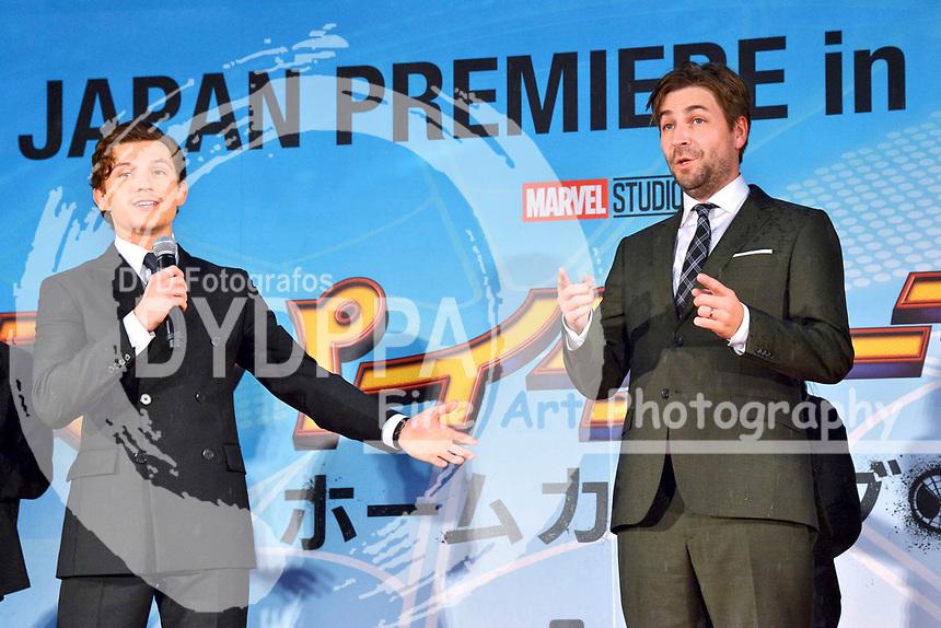 Tom Holland und Jon Watts bei der Premiere des Kinofilms 'Spider-Man: Homecoming' im Kabukicho Cinecity Park. Tokio, 07.08.2017
